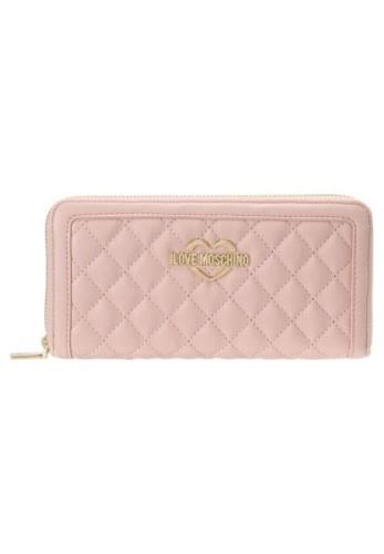 Love Moschino QUILTED WALLET BIG Punge rosa