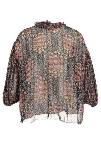 Hunkydory FLORAL PLEAT BLOUSE Bluser navy