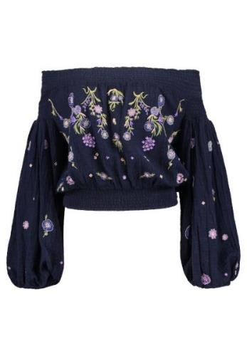 Free People SAACHI SMOCKED  Bluser navy