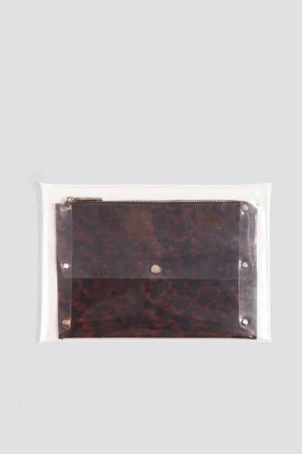 MANGO Tobias Cosmetic Bag - Black,Brown