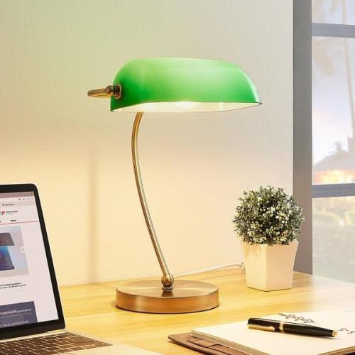 Selea - banklampe med grøn skærm