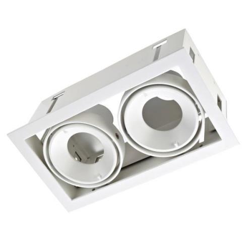LEDS-C4 Multidir Evo S indbygningslampehus, hvid