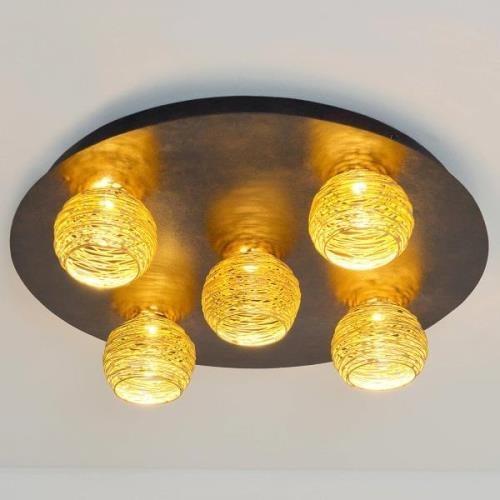 Carillon loftlampe med gyldne skærme
