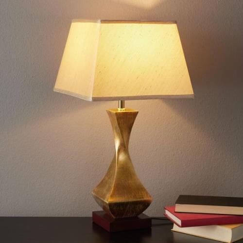 Påfaldende bordlampe Deco med forgyldt fod