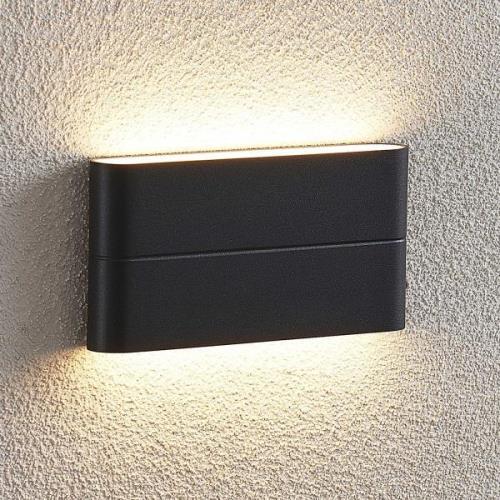 Udendørs LED-væglampe Salka, mørkegrå, 17,5 cm