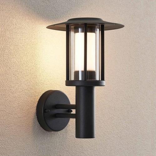 Udendørs LED-væglampe Gregory grå