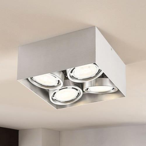 Rosalie LED-downlight 4 lyskilder alu kantet