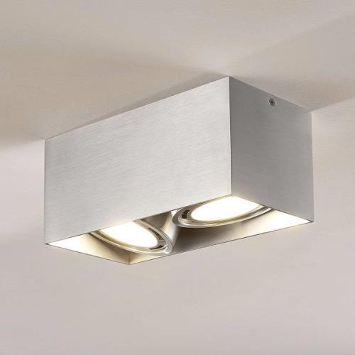 Rosalie LED-downlight 2 lyskilder alu kantet