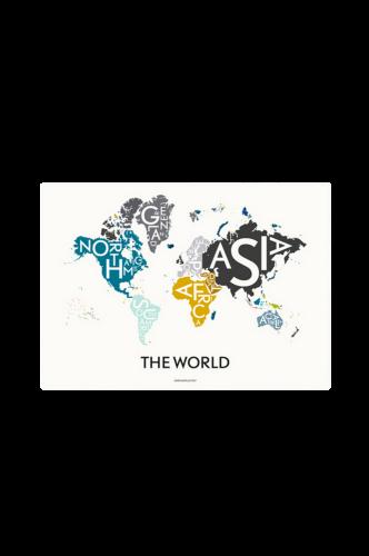 Poster The World Multi, 70x100 cm