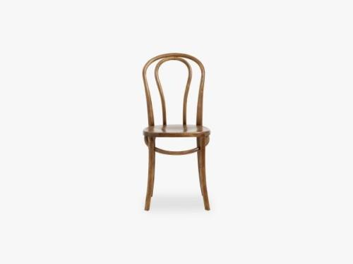 Bistro chair, brown wood