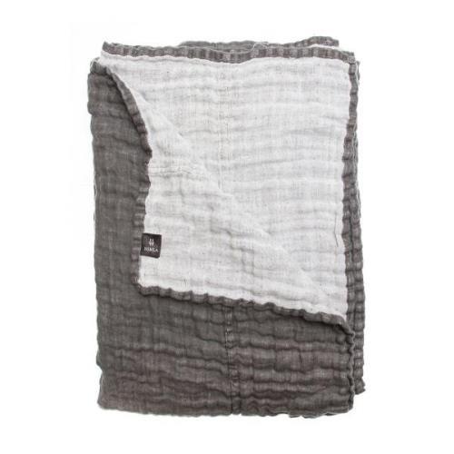 Hannelin sengetæppe charcoal (grå) 160 x 260 cm